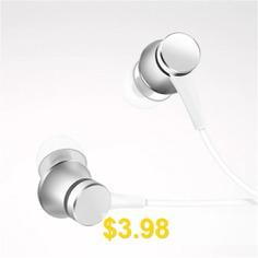 3.5MM #In-ear #Earbuds #Stereo #Earphone #for #Xiaomi # #Huawei #Earphone #Earbuds #- #SILVER