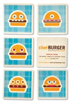 chefBURGER - design - work - tad carpenter #illustration #branding #identity