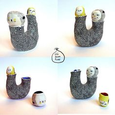 Adorable ceramic works from Lili Scratchy #scratchy #lili #ceramic #adorable