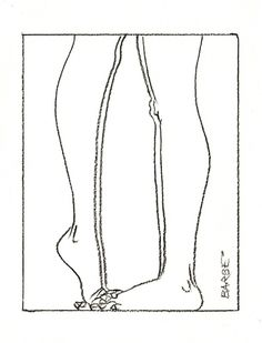 barbe illustration 5 #couple #legs #illustration #feet #kiss