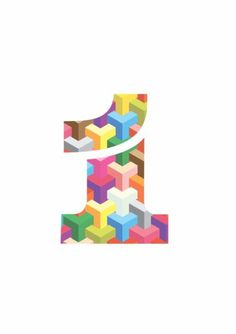 Luke Ferrand Studio #typography #geometric #numeral #number #colour #one