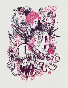 Looks like good Illustrations by Raul Urias #ink #print #illustration #poster #drawing
