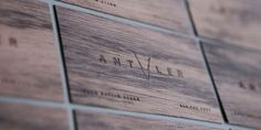 business card, wood