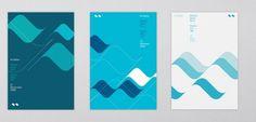 October | Work #print #design #graphic #october #wave #blue