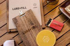 menu, design, matches, wood