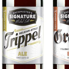 Choc Brewmaster's Signature #beer #bottle #label #packaging