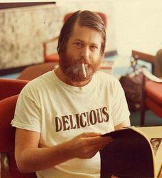 Brian Wilson Beach Boys #typography #beard #shirt