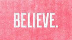 Believe | BrandPress Co. #photoshop #red #tyography #texture