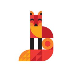 Ty Wilkins - Fox #fox #modern #geometric #illustration #ty #animal #wilkins
