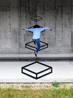 unurth | street art #geometry #jump #art #street