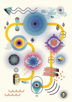 The Way of the Live by Oscar Medina & Sergi Delgado #abstract #vector #forms #color #ilustracin #illustration