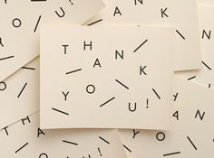 Thank you Cards #typography #type #stationary #card
