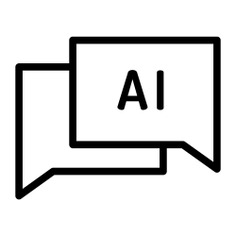 See more icon inspiration related to chat, AI, ui, robotics, artificial intelligence, electronics, electronic, production, communications, industry, user, communication and technology on Flaticon.