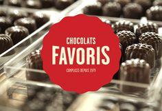Chocolats Favoris Logo and Packaging #favoris2