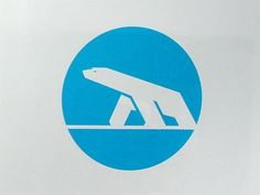 FFFFOUND! | NR2154 #mark #polar #icon #ice #blue #bear #animal
