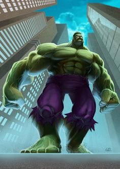 The Hulk - Davi Sales - Portfolio #hulk #smash #illustration #avengers #marvel #comics #green
