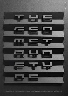 Geometry of type poster by Sam Pemberton