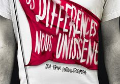 "Nike ""Nos Différences Nous Unissent"" #nike #typography"