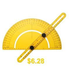 Protractor #Ruler #180 #Degree #Angle #Finder #Gauge #- #GOLDEN #BROWN