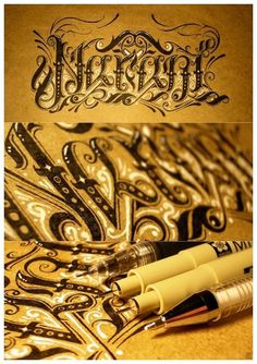 Narani by ~lordmx #calligraphy #on #paper #drawn #pen #hand #typography