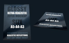 Free Glossy Poster Mockup PSD