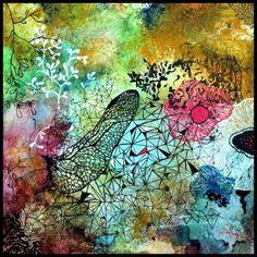 Morning Meditations by Amanda Shannon #meditation #abstract #illustration