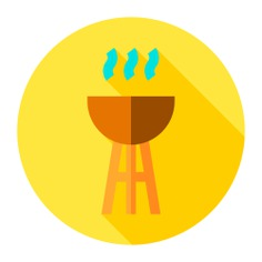 See more icon inspiration related to bbq, food and restaurant, cooking equipment, grill, summertime and barbecue on Flaticon.