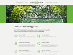 Shake Shack Website #branding
