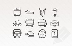 Free Transportation Icons in Vector Format