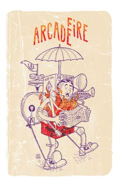 Arcade Fire Poster by CaliDosO #illustration #design #graphic #art