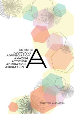 THESAURUS LABTASTICA - A poster series celebrating creativity and inspiration. Includes a free desktop wallpaper. #fonts #desktop #freebies #print #free #poster #layout #wallpaper #typography