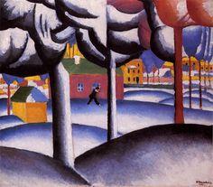 Kazimir Malevich, Зимний пейзаж (1930)