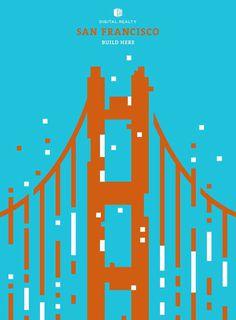Pixelated landmark illustrations for Digital reality #design #pixel #landmarks #illustration #poster #advert