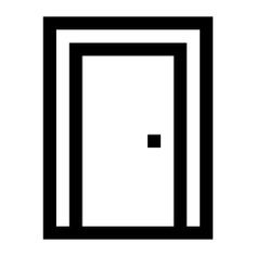 See more icon inspiration related to door, access, furniture and household, construction and tools, doorway, exit door, furniture and on Flaticon.