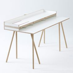 Doppeldecker Table by Bernotat&Co #furniture #design #desk #minimal