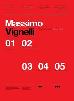 Vignelli Forever on the Behance Network #vignelli #print #design #graphic #poster