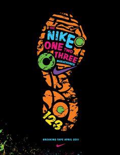 Magazine ad for the Nike 123 marathoner.