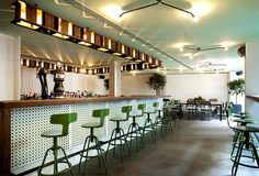 Urban Garden Restaurant in Athens intriguing custom made lighting solutions