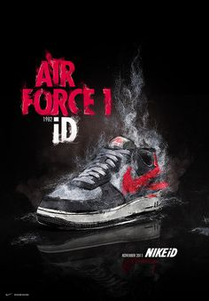 Nike: Air Force 1 ID Theo Aartsma portfolio 2010 #air #paint #effect #force