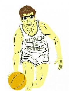 Portraits by Paul Windle | PUBLIC SCHOOL #will #public #school #illustration #bryant #basketball