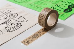 Tote bag, poster and box tape design for Streat Helsinki by Kokomo & Moi