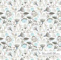 Elizabeth Olwen #blue #pattern #floral #flowers