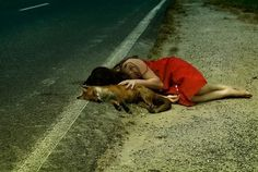 Jessica Tremp   iGNANT #fox #girl #photo #road #jessica #tremp