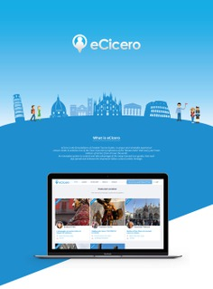 eCicero - Website Concept by Orimat #website #web #design #ui #ux #interface #designbyorimat #tour #tourist #travel #italy