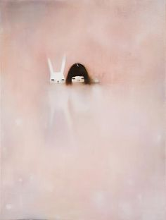 Hanna Kim #paste #fog #girl #illustration #rabbit