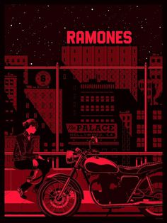 All sizes | Ramones Screen Printed Gig Poster | Flickr - Photo Sharing! #kevin #illustration #tong
