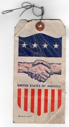 REDCROW Quality Goods & Supply Co. #red #flag #hand #logo #tag #usa #blue