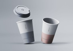 Two Coffee Cups Mockup 2