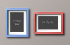 Portrait and Landscape Wood Frame Mockup