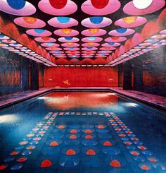 Verner Panton Interiors // Restaurant Varna #interior #architecture